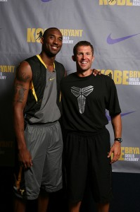 Basketball Coach Ganon Baker and Kobe Bryant