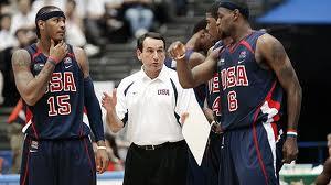 Coach K, Lebron James, & Carmelo Anthony