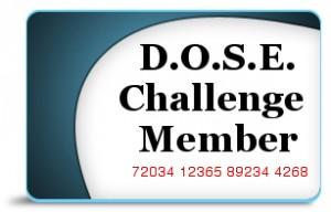 D.O.S.E. Challenge Membership Card